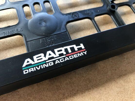 Kentekenplaathouder Abarth Driving Academy