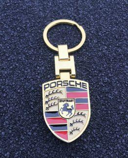 Sleutelhanger Porsche Goud