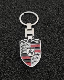 Sleutelhanger Porsche zilver
