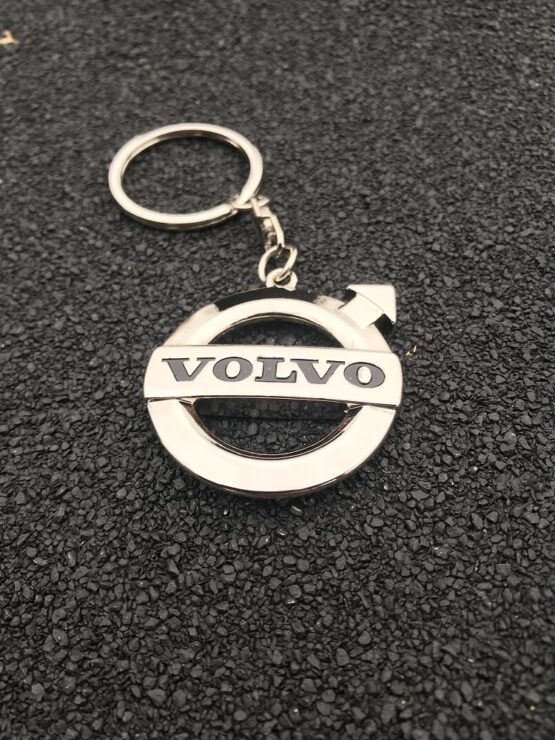 Sleutelhanger Volvo zilver